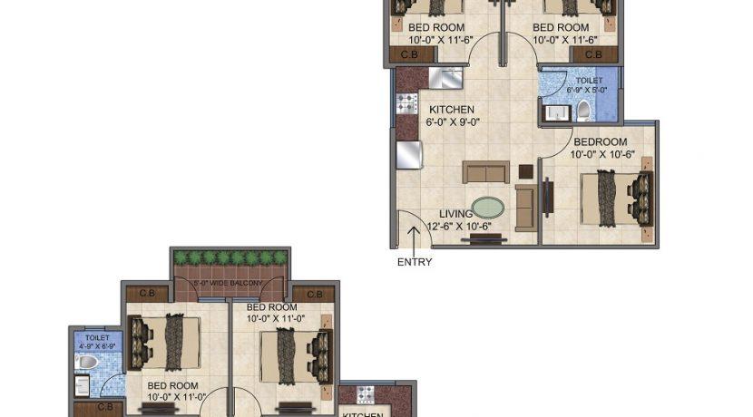 3BHK-Floor-Plan