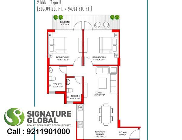 Signaturegrandiva.com2-BHK-Type-B