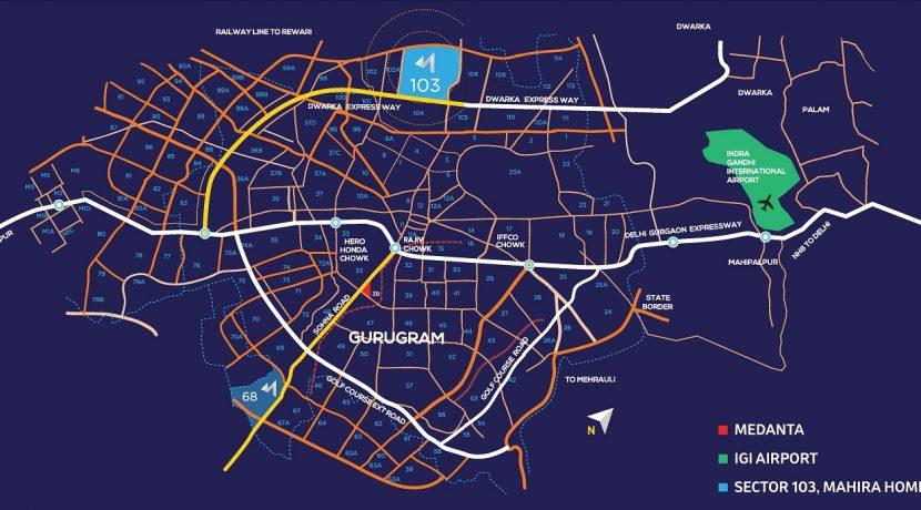 Mahira-Homes-103-Sector-103-Location-Map