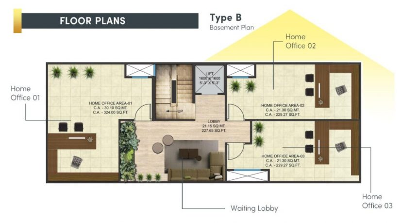 signatureglobalcity37d floor plan basement type B