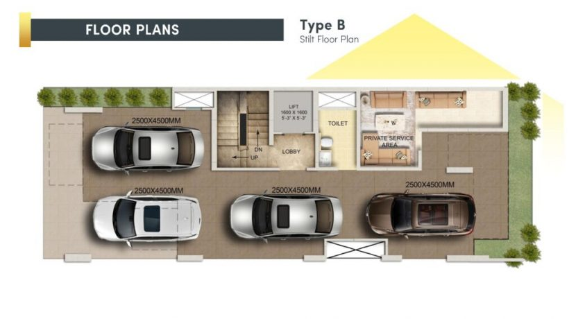 signatureglobalcity37d floor plan stilt type B
