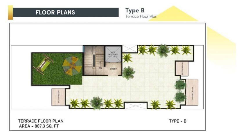 signatureglobalcity37d floor plan terrace type b