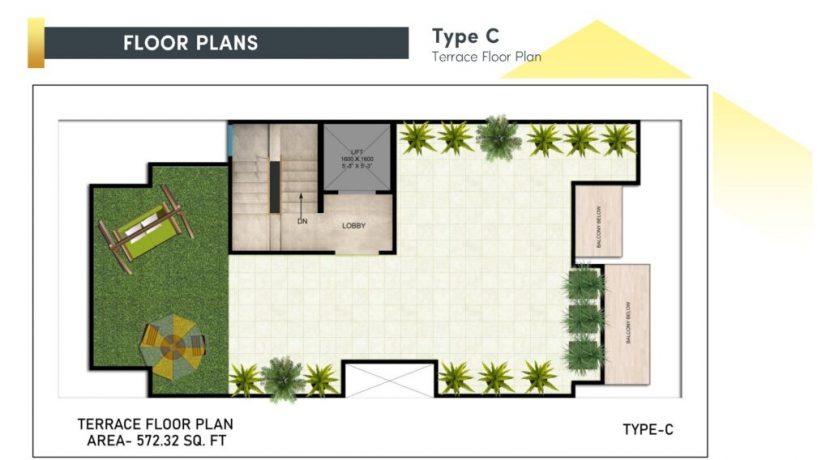 signatureglobalcity37d floor plan terrace type c