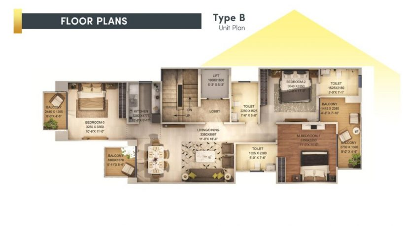 signatureglobalcity37d floor plan type B