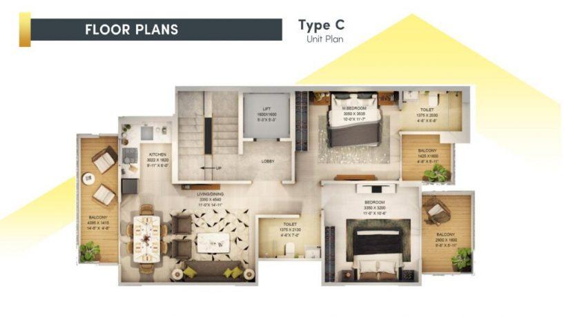 signatureglobalcity37d floor plan type c