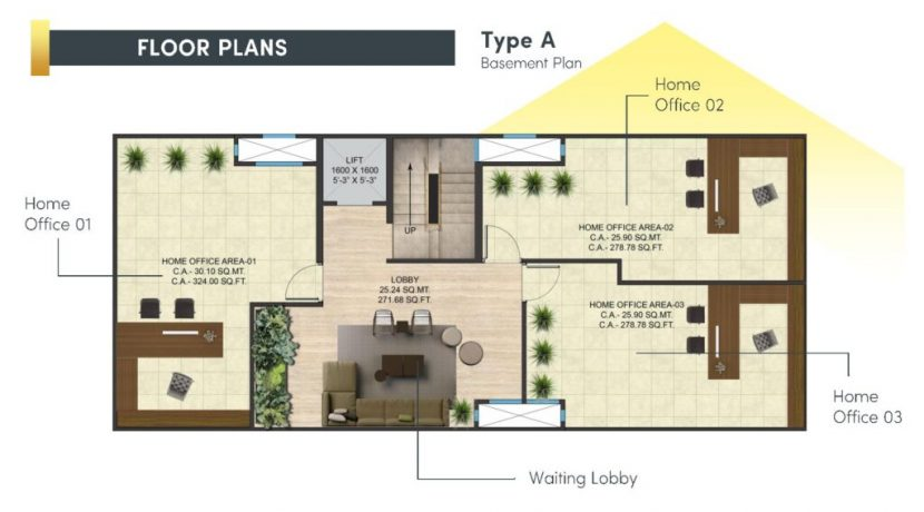 signatureglobalcity37dfloor plan basement type A